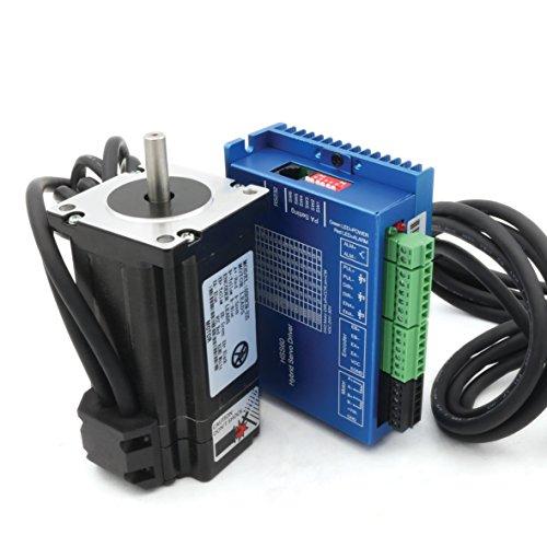 Hybrid Motor - Nema24 3N.m Closed Loop Stepper Servo Motor 88mm 5A+HSS60 Hybrid Driver CNC Kit for CNC Router Engrvaving Milling Machine
