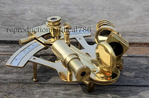 Handmade Nautical Brass Sextant 4'' inch Maritime Marine Desktop Decorative A by Arsh Nautical