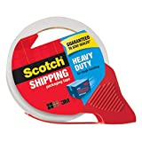 Scotch 3850S-RD-ESF Heavy Duty Shipping Packaging Tape, 48mm x 35m, 1 Roll with Refillable Dispenser
