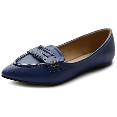 Ollio Women's Ballet Shoe Pointed Toe Penny Multi Color Flat | Flats
