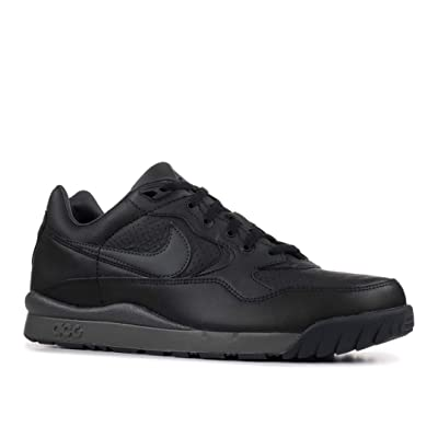 Nike Mens Air Wildwood ACG Leather Shoes Black/Black AO3116-003 Size 10.5 | Basketball