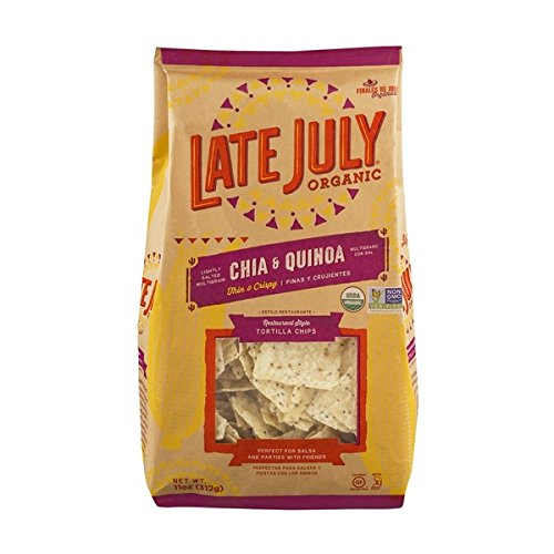 (Late July Organic Restaurant Style Tortilla Chips Chia & Quinoa 11 oz (2 Pack))