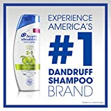Head and Shoulders Green Apple Anti-Dandruff 2 in 1 Shampoo and Conditioner, 13.5 fl oz, Pack of 2