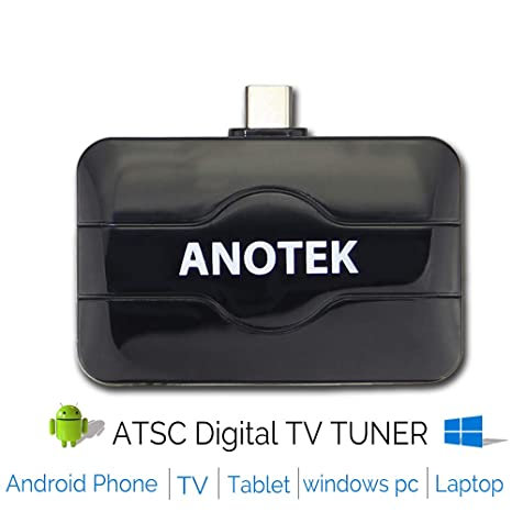 Digital USB TV Tuner Receiver External TV Stick, 6 in1 for Android Phone  Tablet Smart TV TV Box Car and PC Laptop (Win 7/8/10) ATSC 4K&HD for