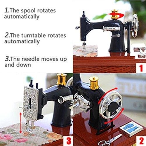 Amazon Vintage Music Box Mini Sewing Machine Style Mechanical Beauteous Decor Mini Sewing Machine