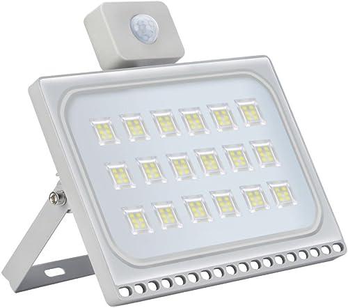 100W LED Motion Sensor Flood Lights, 10000LM, Daylight White 6000-6600K , IP65,Ultra-Thin Outdoor Landscape Spotlights, Bright PIR Security Lights, for Garden, Yard, Warehouse