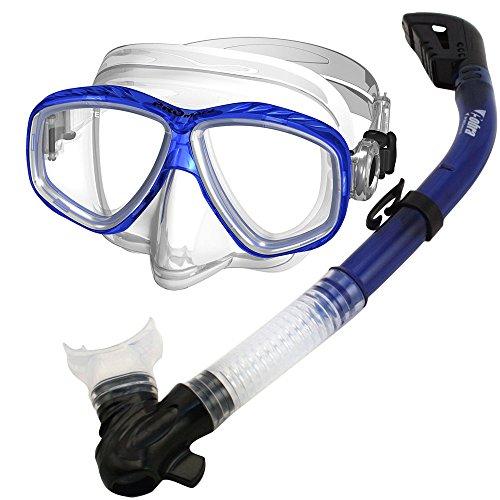 Promate Snorkel Scuba Dive Mask Snorkeling Set, tBlue