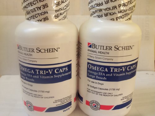 2 Pack 60 count Omega Tri-V Caps For Dogs Over 61 lbs (120 capsules), My Pet Supplies