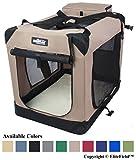 EliteField 3-Door Folding Soft Dog Crate, Indoor & Outdoor Pet Home, Multiple Sizes