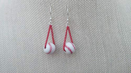 Choice of Sports Earrings with Sterling Ear Wires: Ceramic or Porcelain Baseball, Basketball, Golf, Soccer, Softball or ()