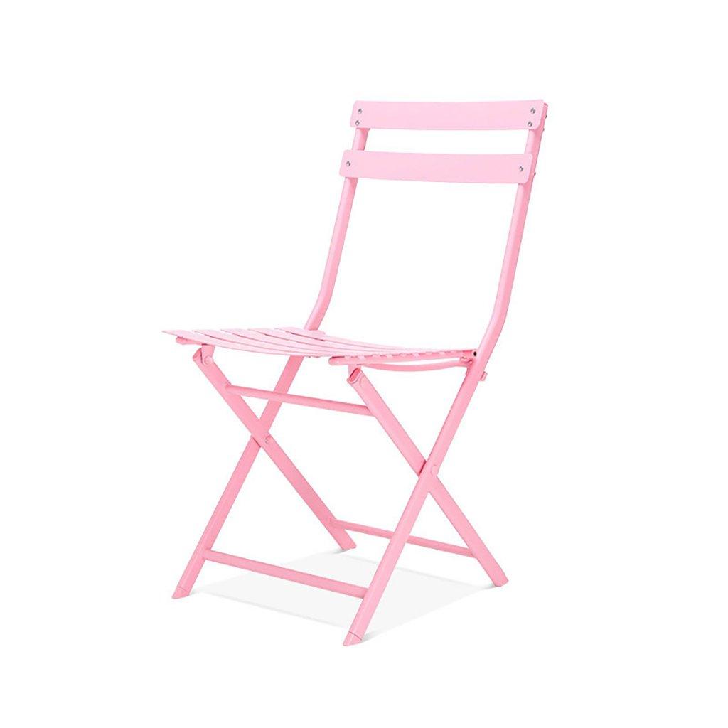 折りたたむ椅子 シンプルなカジュアルな鉄折り畳みチェアバルコニー屋外5色のテーブルチェア(サイズ:42 * 50 * 81センチメートル) 折りたたみチェア (色 : C) B07BS2FTMS C C