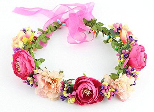 11 couleurs à la main de fleurs Couronne de mariée Accessoires cheveux Kegon Buckdirect Worldwide Ltd.