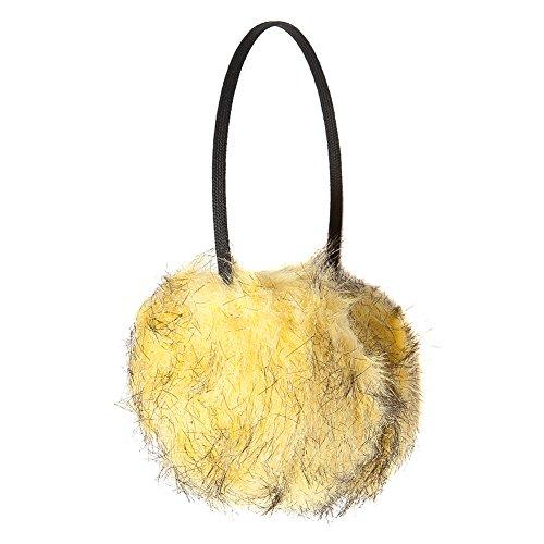pelliccia da in di colori Accessoryo Charms bicolore una gialli selezione donna in xEqEI4HznW