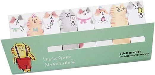 JingHai 1 Pack/Lot Mini Lindo Kawaii Cartoon Cat Memo Pad Notas ...