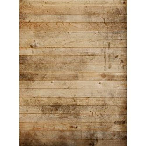 Photography Weathered Faux Wood Floor Drop Background Mat CF1750 Rubber Backing, 8'x8' High Quality Printing, Roll up for Easy Storage Photo Prop Carpet Mat