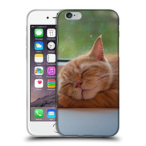 "Just Phone Cases Coque de Protection TPU Silicone Case pour // V00004288 chaton mignon pattes sur slleping // Apple iPhone 6 6S 6G PLUS 5.5"""