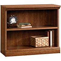 Sauder Camden County 2-Shelf Bookcase, Planked Cherry