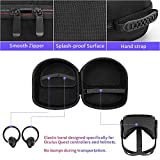 Fromsky Oculus Quest Accessory Set Kit, Travel Case & Knuckle Strap & Lens Protect Cover & Silicone Face Cover Mask & Head Strap Pad for Oculus Quest VR Accessories Bundle