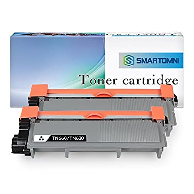 2 Pack S SMARTOMNI Compatible Replacement for Brother TN660 TN630 Toner Cartridge Using with Brother HL-L2340DW HL-L2300D HL-L2380DW L2360DW MFC-L2700DW L2740DW DCP-L2540DW L2520DW Printer