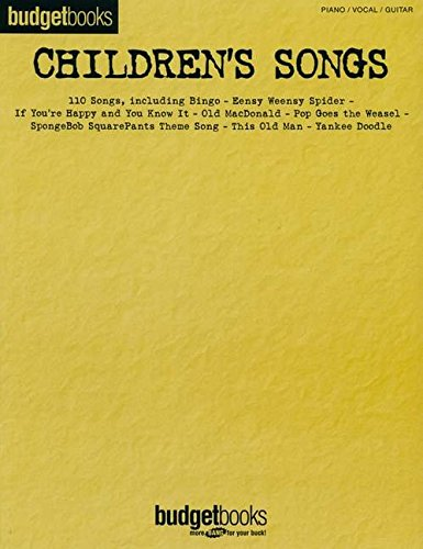 Children's Songs: Budget Books