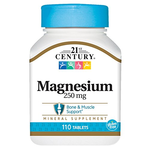 (21st Century Magnesium 250 mg Tablets, 110 Count)