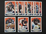 Chicago Bears 1990 Fleer Football Team Set (Premier Issue)** (Neal Anderson) (Kevin Butler) (Jim Covert) (Richard Dent) (Dennis Gentry) (Jim Harbaugh) (Jay Hilgenberg) (Vestee Jackson) (Steve MC Michael) (Brad Muster) (Mike Singletary) (Mike Tomczak) (Keith Van Horne) (Mark Bortz) (Maury Buford) (Mark Carrier) (Dan Hampton) (William Perry) (Ron Rivera)