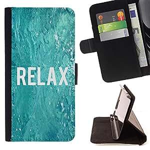 - Queen Pattern FOR Samsung Galaxy Core Prime /La identificaci????n del cr????dito ranuras para tarjetas tir????n de la caja Cartera de cuero cubie - relax surfing surfer blue wat