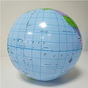 YeahiBaby Globo inflable globo de la tierra Mapa Educativo Playa jugando juguete de la bola