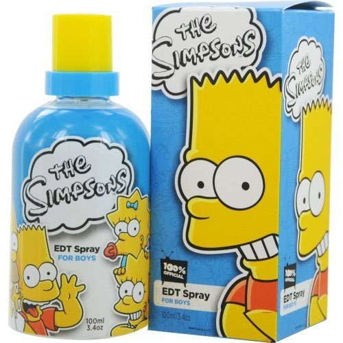 Twentieth Century Fox Eau de Toilette Spray for Boys and Kids, The Simpsons, 3.4 Ounce