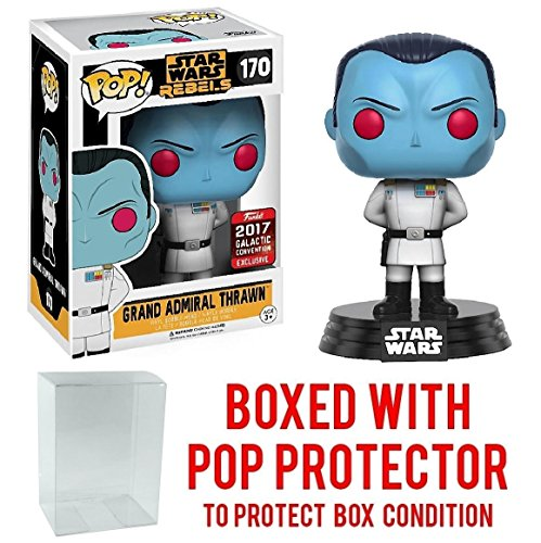 Funko Pop  Star Wars   Grand Admiral Thrawn 2017 Star Wars Galactic Convention Exclusive Vinyl Figure  Bundled With Pop Box Protector Case