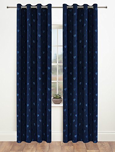 Onlyyou Window Treatments Thermal Insulated Heart Grommet Blackout - 95 Inch Curtain Panels Set