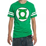 The Green Lantern Logo With Striped Sleeves Green Adult T-shirt Tee