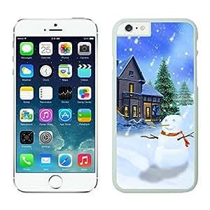 Iphone 6 Plus case,Christmas snowman Iphone 6 Plus case White Cover