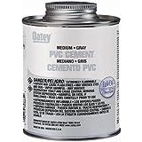 Oatey 30885 PVC Medium Cement, Gray, 16-Ounce