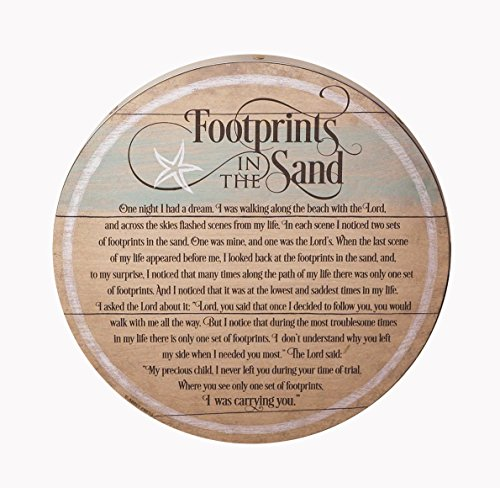 Footprints in the Sand Barrel Lid - Stores Mall In Lakeside