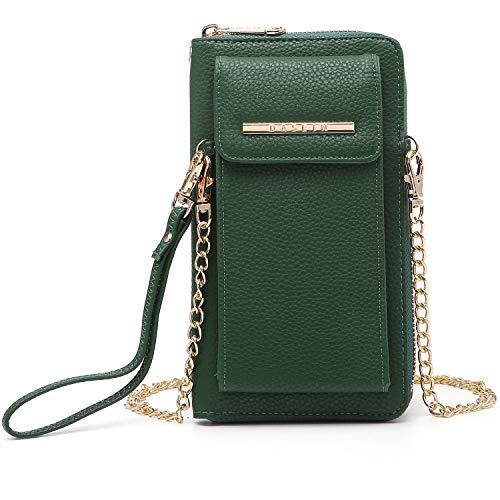 Women Fashion Small Crossbody Bag Messenger Shoulder Bag Purse Multiple Pocket Cellphone Wallet