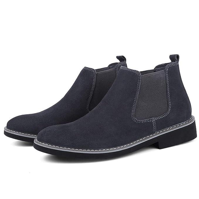 HILOTU Botines de Chelsea para Hombre Ocasionales Vestido Formal Zapatos Casuales Botines Pull Up Clásicos (Color : Gris, tamaño : 40 EU): Amazon.es: Hogar
