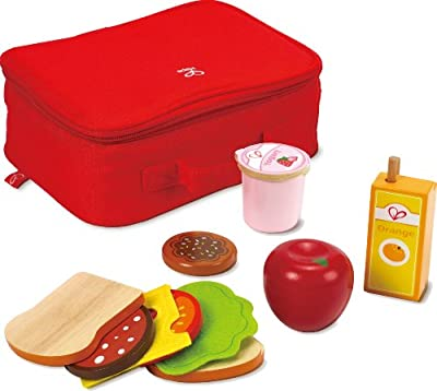 Hape - Playfully Delicious - Lunch Box Wooden Play Food Set