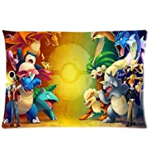Custom Pokemon Pillowcase Standard Size 20x30 Cotton Pillow Case P850