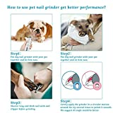Electric Dog Nail Grinder, Pet Nail Trimmer with 2