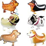 Walking Animal Balloons Pet Dog balloons - 6pcs dog Balloon Air Walkers, Kids Gift Birthday Party Décor