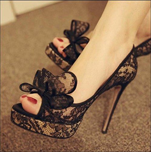 Fein mit weiblichen Schuhe, Fisch Mund mit feinen, mit weiblichen Sandalen, silbrig, 33