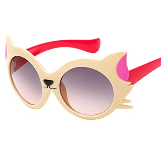 Baby Sunglasses,Yamally_9R Toddler Girls Boys Cartoon Cat UV400 Novelty Beach Sunglasses