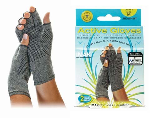 SPECIAL PACK OF 5 - IMAK Active Gloves Medium (Pair) by Imak