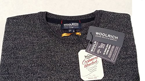 Woolrich Cashmere Mix Lambswool Blue Blu Womag1665 Mouline' Blended Yarn Melange Pullover 3932 Neck Girocollo Crew In qEO7rqZw
