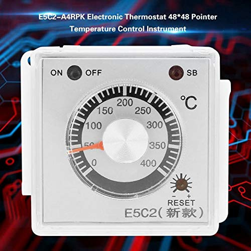 Temperature Controller Electronic Thermostat 48x48 Pointer Temperature Control Instrument Temperature Meter E5C2-A4RPK