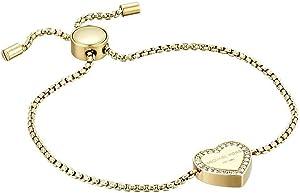 Michael Kors Heritage Pave Logo Heart Slide Bracelet Gold MKJX5043710