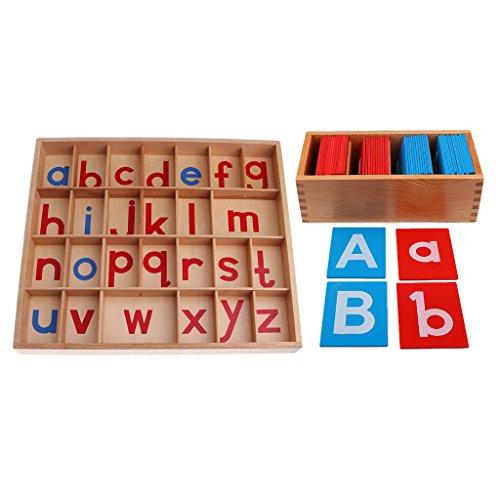 bb13fc9d6589a Gazechimp Montessori Caja de Cartas de Alfabetos Juguete Educativo para  Niños delicate