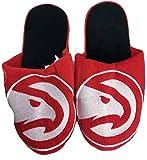 NBA Atlanta Hawks Men's Team Logo Slippers Red White (Large 11-12)