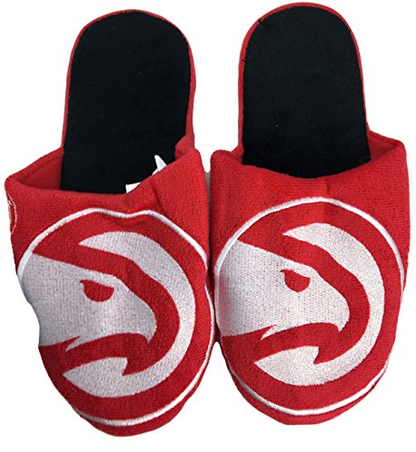 NBA Atlanta Hawks Men's Team Logo Slippers Red White (Medium 9-10) by NBA
